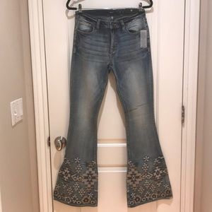 NWT Miss Me Super Bellbottom Aztec Jeans